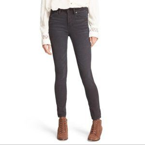 Free People High Rise Gray Stretch Skinny Jeans 27